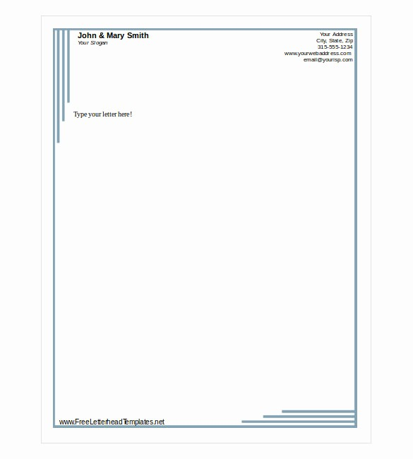 Business Letterhead Templates Free Download Fresh Free Letterhead Template 22 Free Word Pdf format