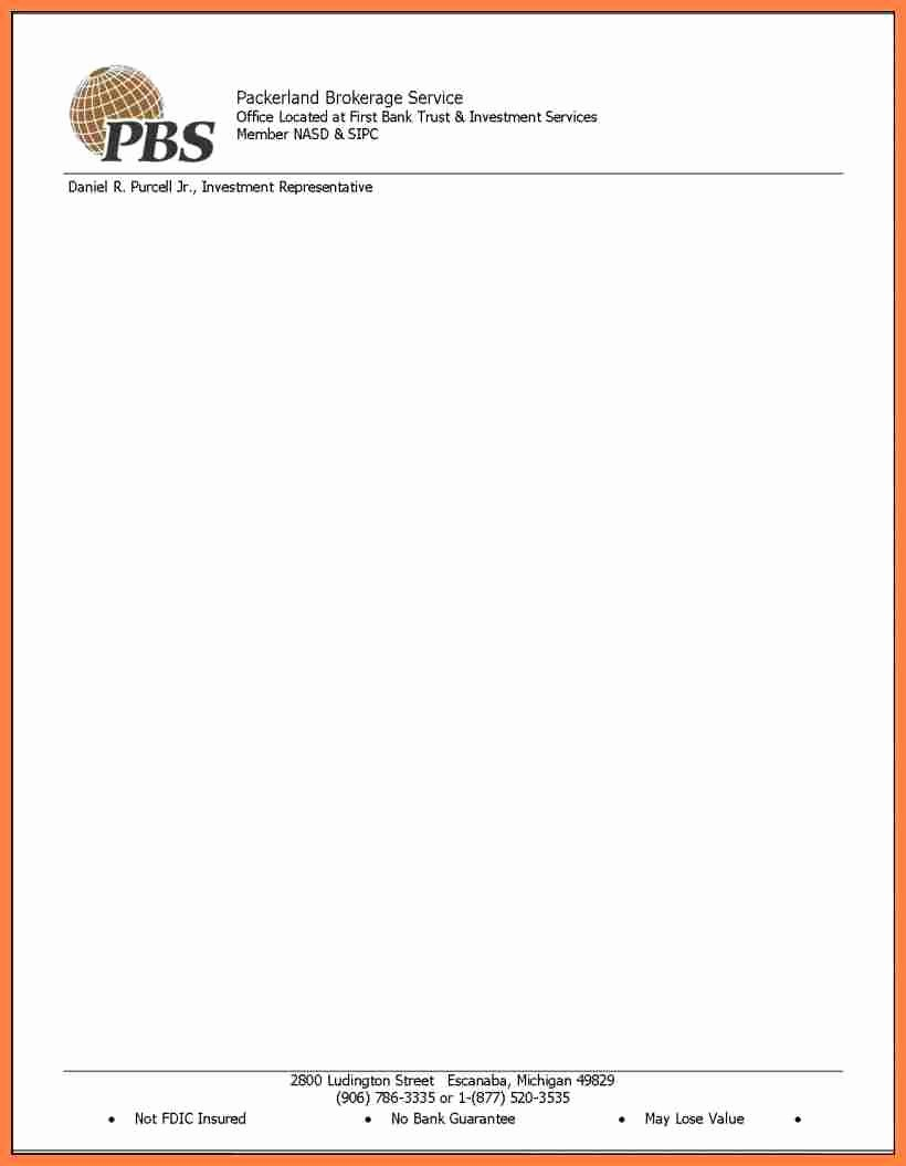 Business Letterhead Templates Free Download Inspirational 4 Pany Letter Head Template