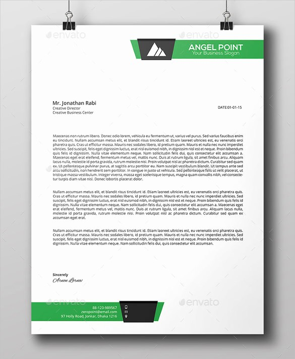 Business Letterhead Templates Free Download Unique 25 Business Letter Templates Pdf Doc Psd Indesign