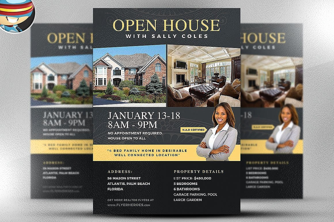 Business Open House Flyer Template Awesome Open House Flyer Template 2 Flyer Templates Creative
