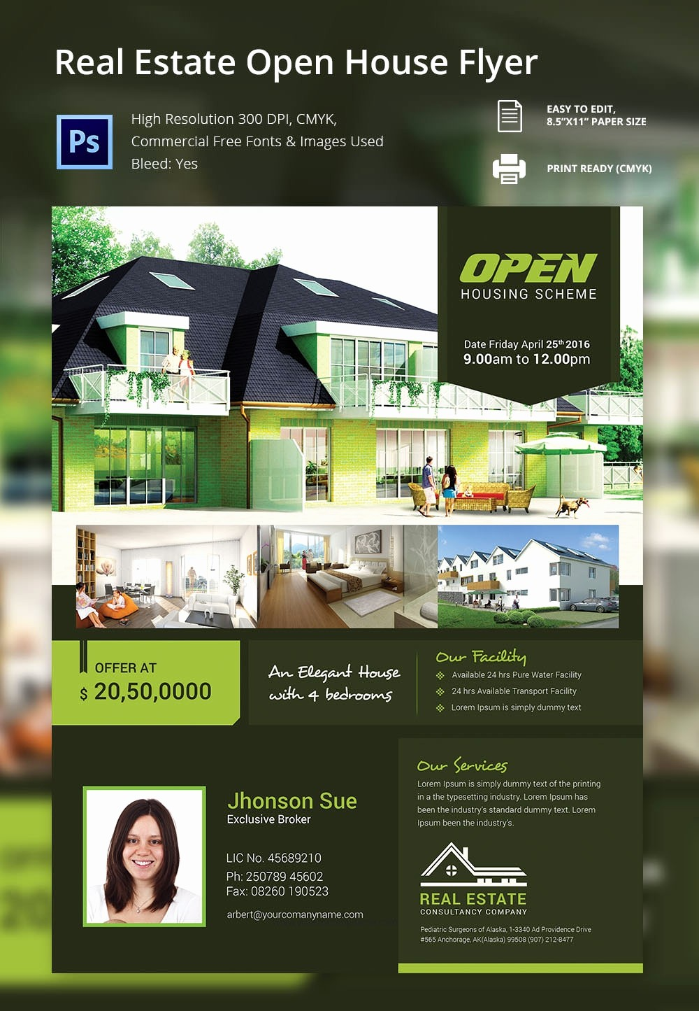 Business Open House Flyer Template Fresh Open House Flyer Template – 30 Free Psd format Download