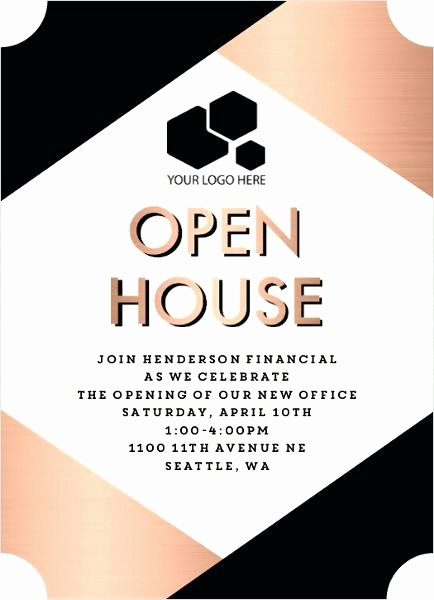 Business Open House Flyer Template Inspirational Business Open House Invitation Business Open House