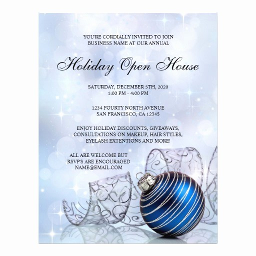 Business Open House Flyer Template Luxury Festive Business Holiday Open House Flyer Template