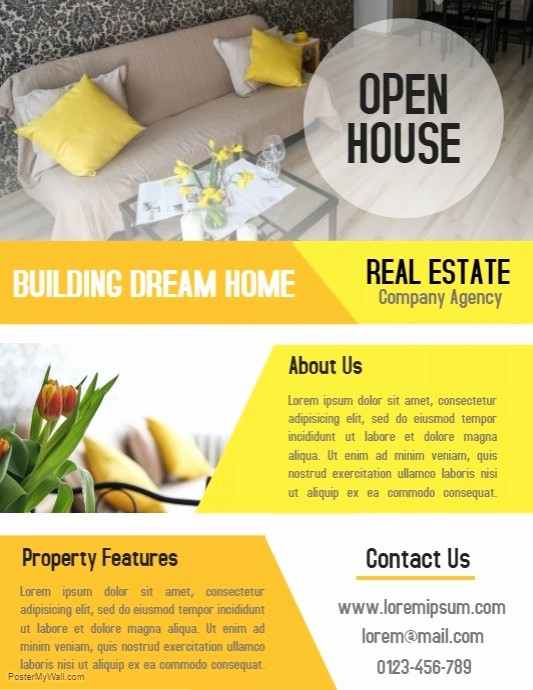 Business Open House Flyer Template Luxury Open House Real Estate Property Business Flyer and Poster