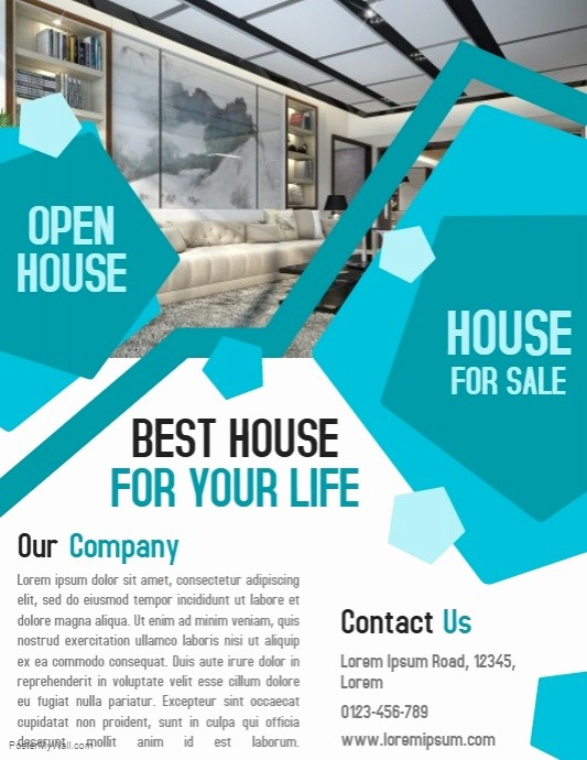 Business Open House Flyer Template Unique Open House Property Business Real Estate Flyer and Poster