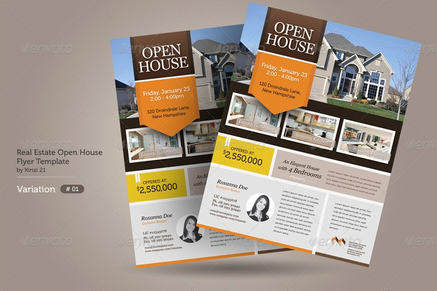 Business Open House Flyer Template Unique Real Estate Open House Flyers by Kinzi21