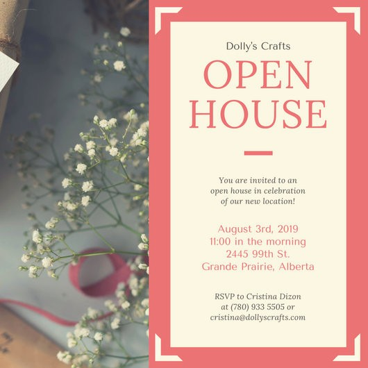 Business Open House Invitation Template Best Of Coral Border Business Open House Invitation Templates by