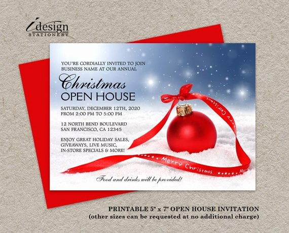 Business Open House Invitation Template Best Of Items Similar to Festive Business Holiday Open House