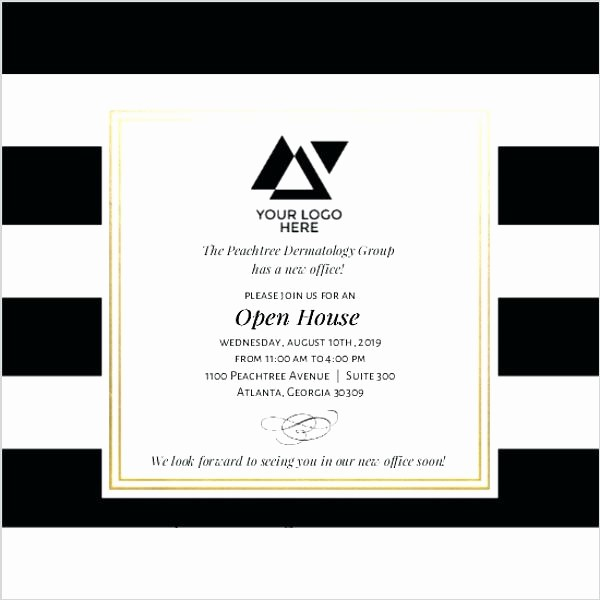Business Open House Invitation Template Elegant Business Open House Invitation Wording Design Templates
