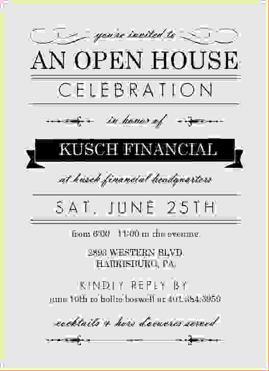 Business Open House Invitation Template Fresh 7 Business Open House Invitationreport Template Document