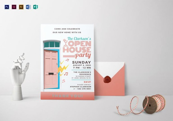 Business Open House Invitation Template Unique 22 Open House Invitation Templates – Free Sample Example