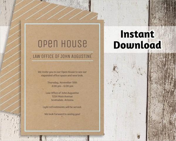 Business Open House Invitation Template Unique 25 Invitation Templates