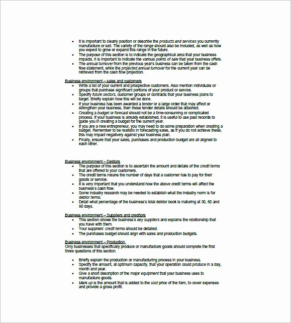 Business Plan Financial Plan Template Awesome Financial Business Plan Template 13 Free Word Excel