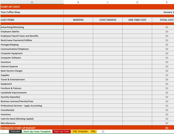 Business Plan Financial Plan Template Lovely Excel