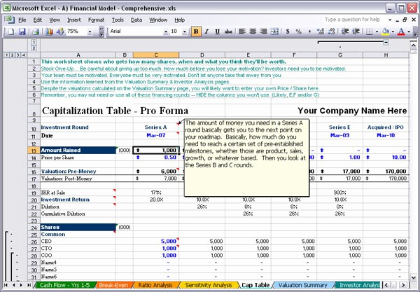 Business Plan Financial Projections Excel Awesome Raise Capital Bizplanbuilder Business Plan software Template