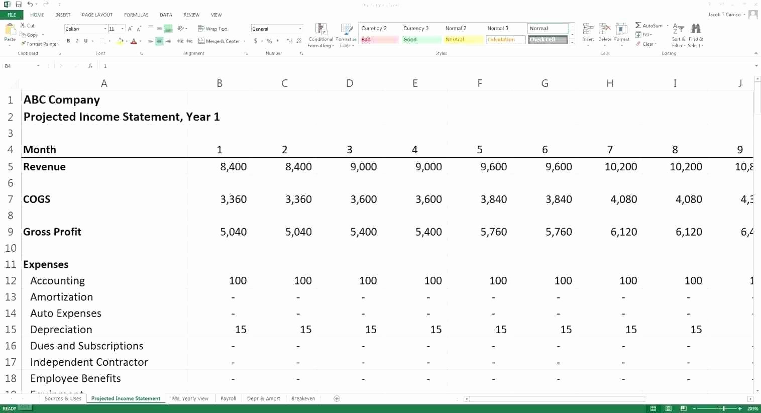 Business Plan Financial Projections Excel Awesome Template 3 Year Cash Flow Projection Template