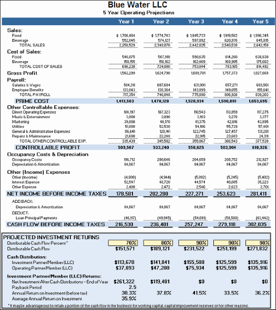 Business Plan Financial Projections Excel New Business Plan Financials