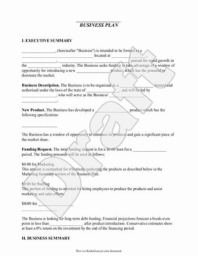 Business Plan Outline Template Free Beautiful Business Plan Template – Free & Simple for Small Business