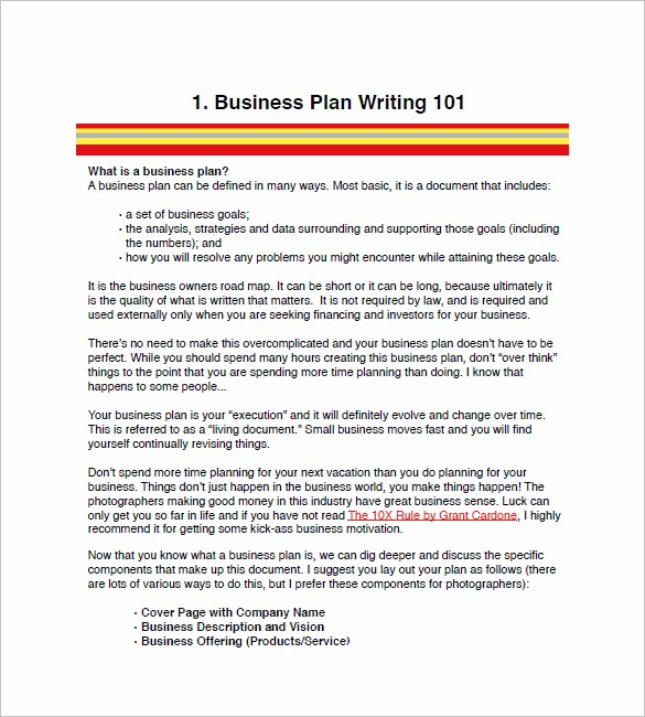 Business Plan Outline Template Free Best Of Graphy Business Plan Template 11 Free Word Excel