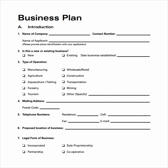 Business Plan Outline Template Free Unique Bussines Plan Template 17 Download Free Documents In