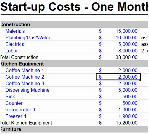 Business Plan Startup Costs Template Beautiful Startup Business Bud Template Excel