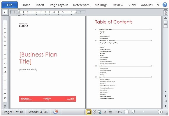 Business Plan Template Microsoft Office Best Of Business Plan Template for Microsoft Word