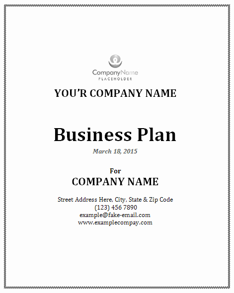 Business Plan Template Microsoft Office Elegant Business Plan Template