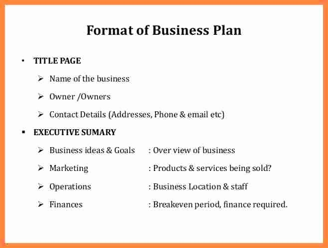 Business Plan Title Page Example Elegant Buisness Plan format 9 Business Plan Title Page Example
