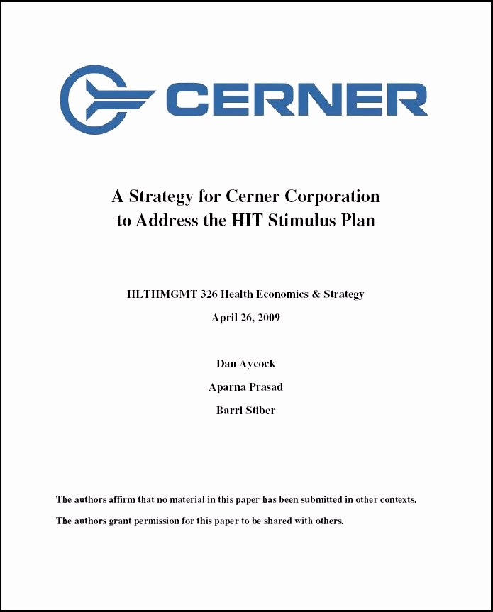 Business Plan Title Page Example Elegant Health Care Renewal Healthcare It Corporate Ethics 101