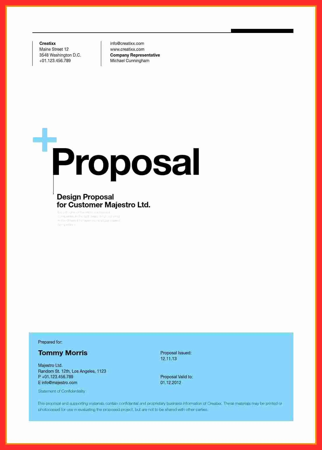 Business Plan Title Page Example Fresh Proposal Cover Sheet