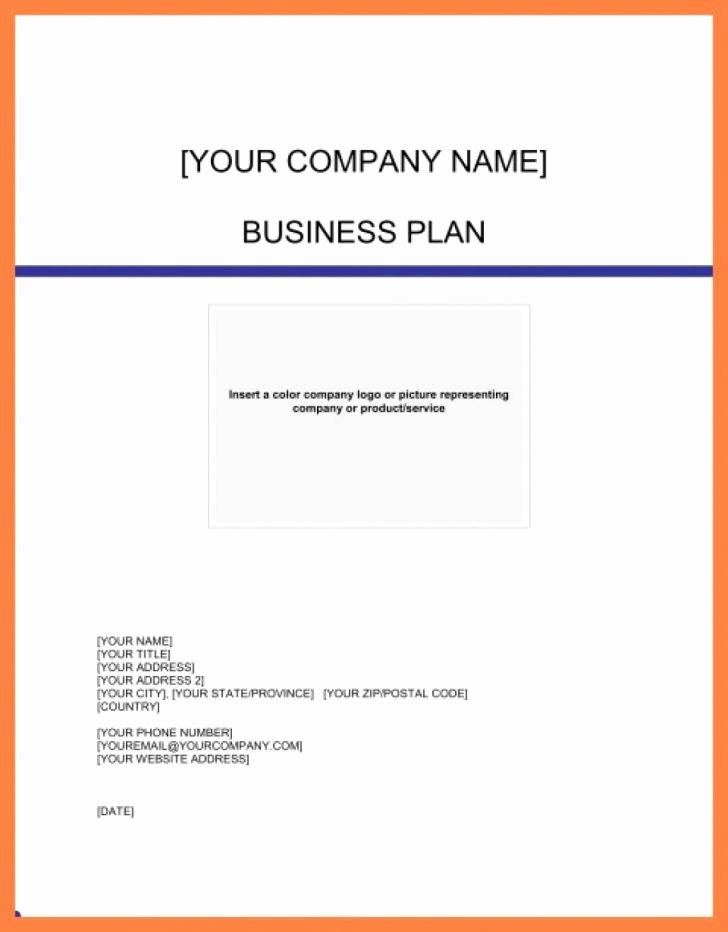 Business Plan Title Page Example Luxury Business Plan Front Page Sample Pics Bussiness Trending