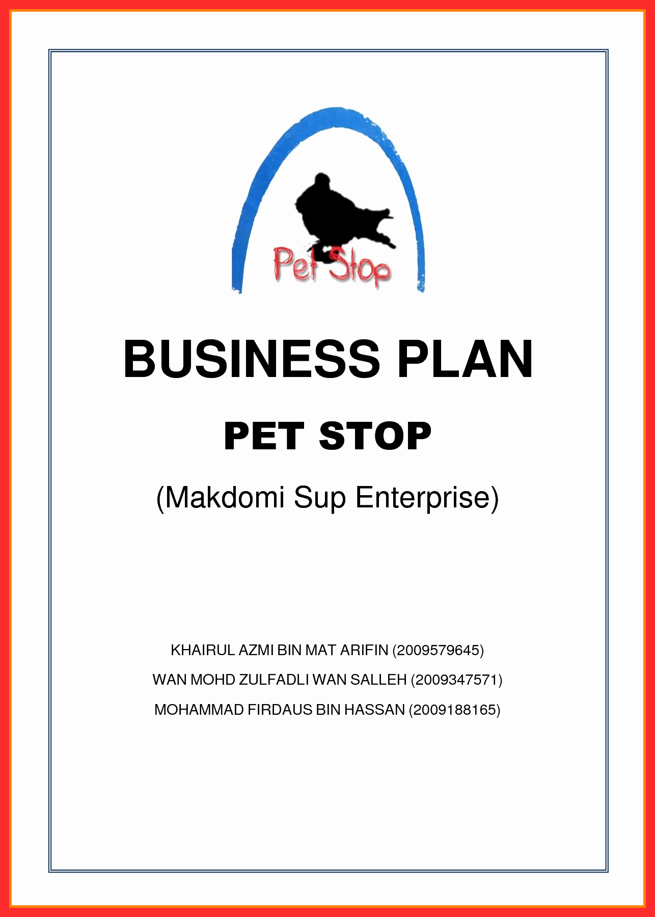 Business Plan Title Page Example Luxury Business Title Page