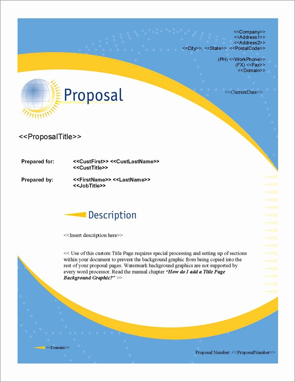 Business Plan Title Page Example New Proposal Pack Global 1 software Templates Samples