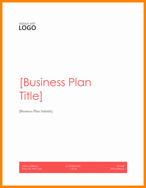 Business Plan Title Page Example Unique Business Plan Cover Page Template Word Boisefrycopdx