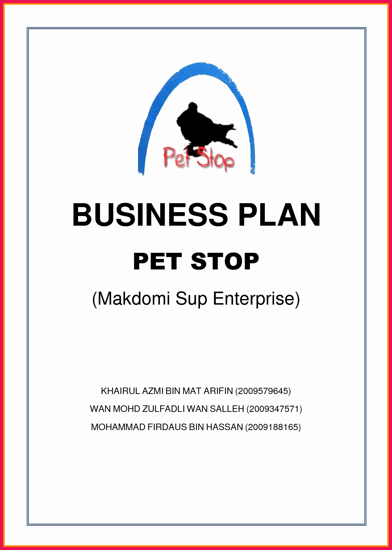 Business Plan Title Page Template Lovely Business Proposal Cover Sheet