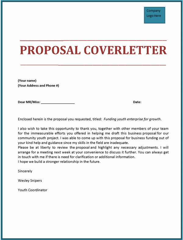 Business Proposal Cover Page Template Beautiful Basic Bid Proposal Template