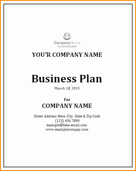 Business Proposal Cover Page Template Beautiful Business Plan Cover Page Template – Business form Templates