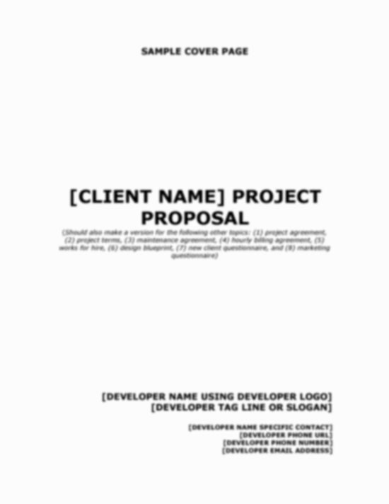 Business Proposal Cover Page Template Elegant Best S Of Sample Proposal Cover Page Business
