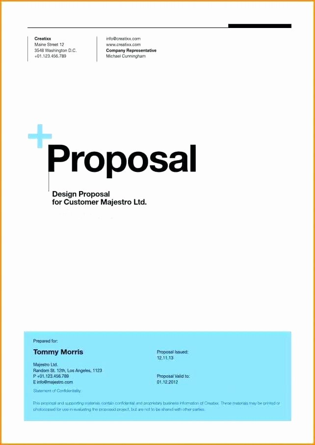 Business Proposal Cover Page Template Fresh 15 Cover Page Of A Proposal