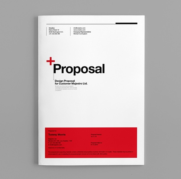 Business Proposal Cover Page Template Lovely 31 Free Proposal Templates Word