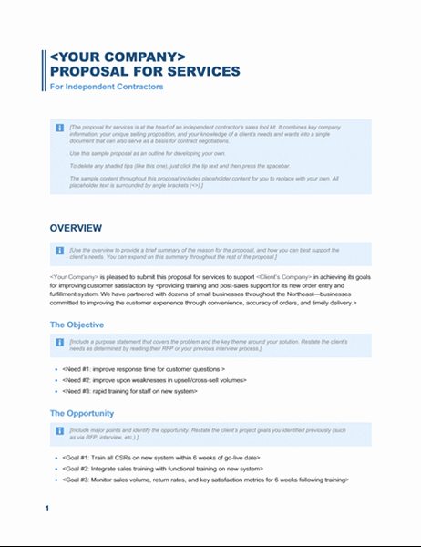 Business Proposal Sample for Services Awesome Services Proposal Business Blue Design