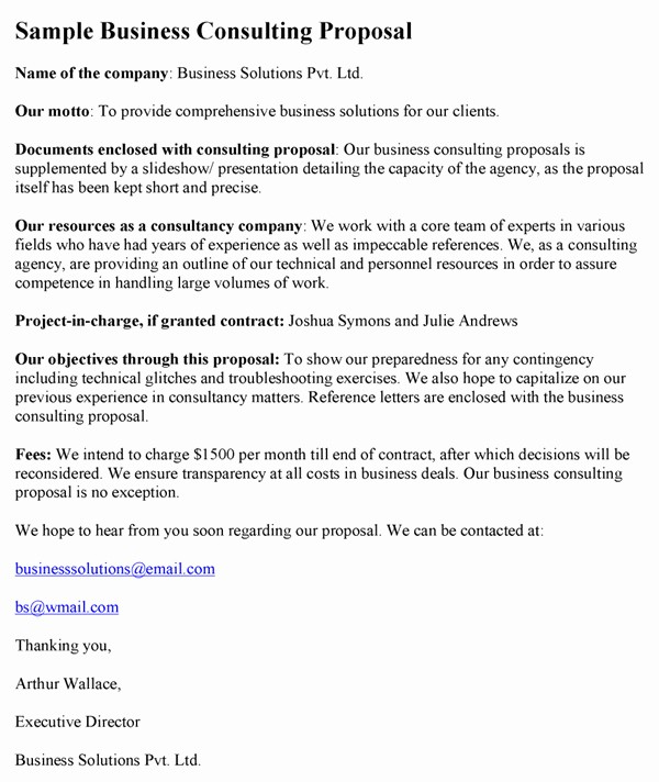 Business Proposal Sample for Services Beautiful Business Consulting Proposal Sample Templates Resume