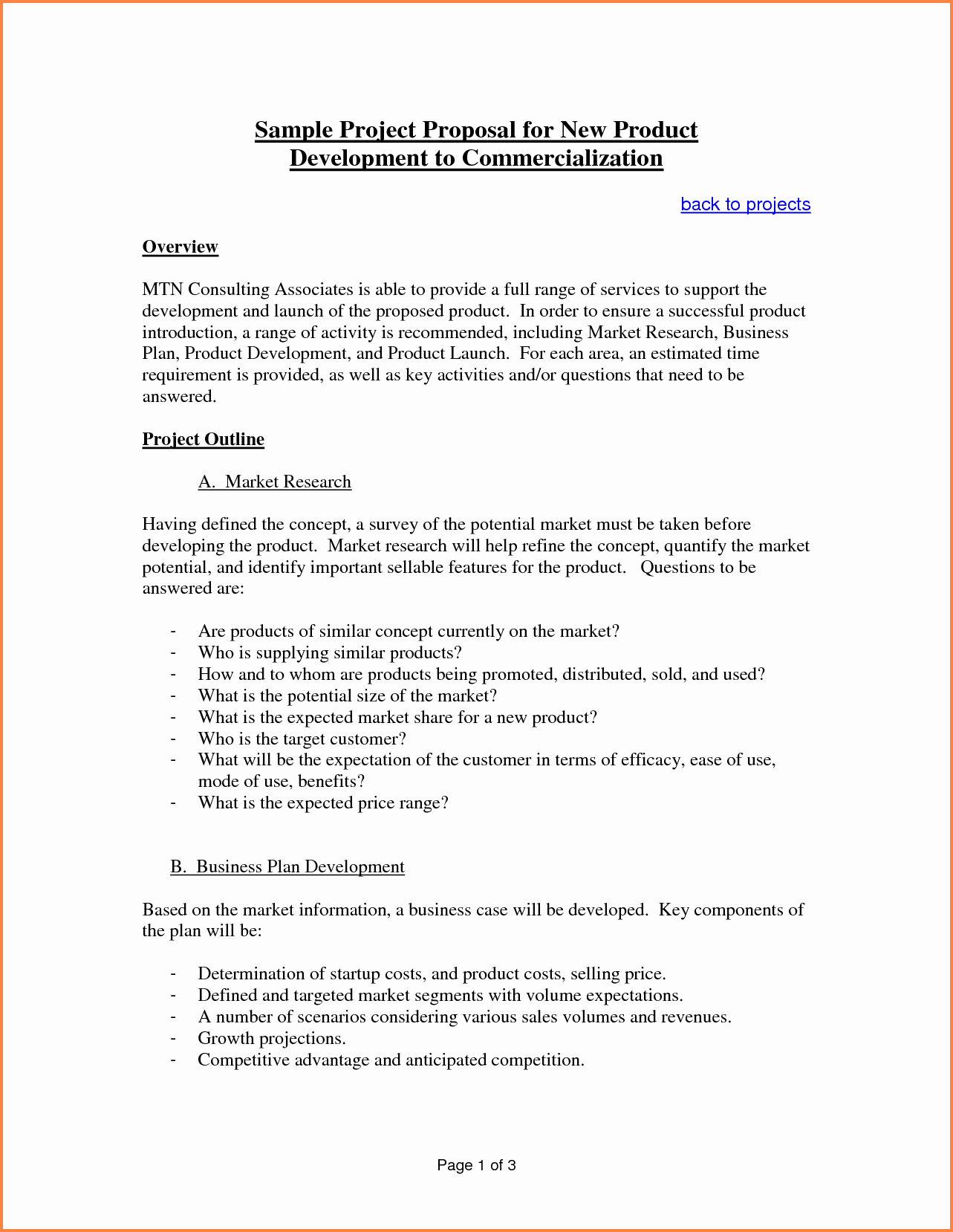 Business Proposal Sample for Services Fresh 6 Sample Proposal Template for Project