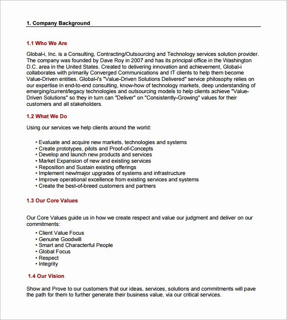 Business Proposal Sample for Services Inspirational Consulting Proposal Template 18 Free Word Pdf format