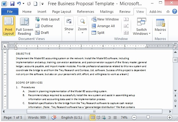 Business Proposal Template Microsoft Word Awesome Free Business Proposal Template for Microsoft Word
