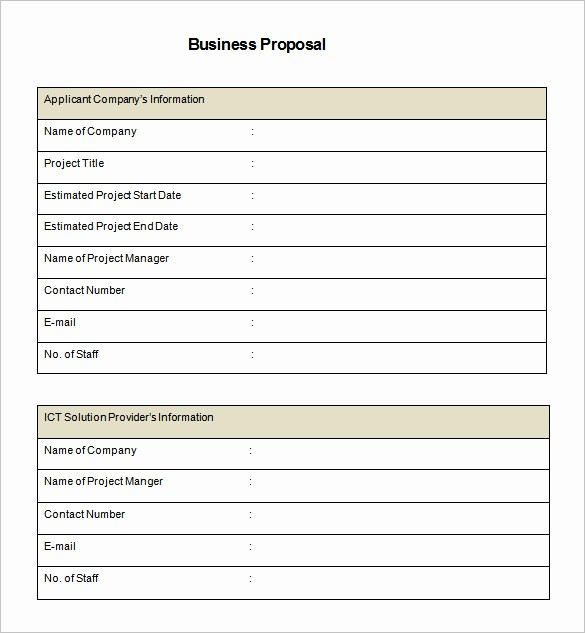 Business Proposal Template Microsoft Word Elegant Business Proposal Template Word