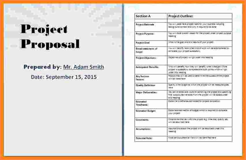 Business Proposal Template Microsoft Word Fresh 4 Business Proposal Template Microsoft Word