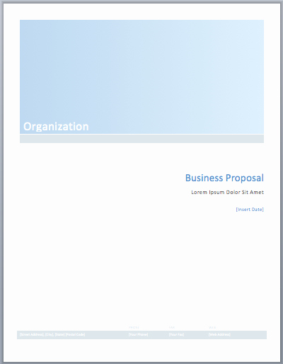 Business Proposal Template Microsoft Word Inspirational Business Proposal Template – Microsoft Word Templates