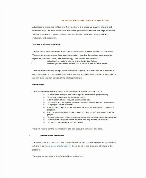 Business Proposal Template Microsoft Word Luxury 17 Sample Business Proposal Templates In Word