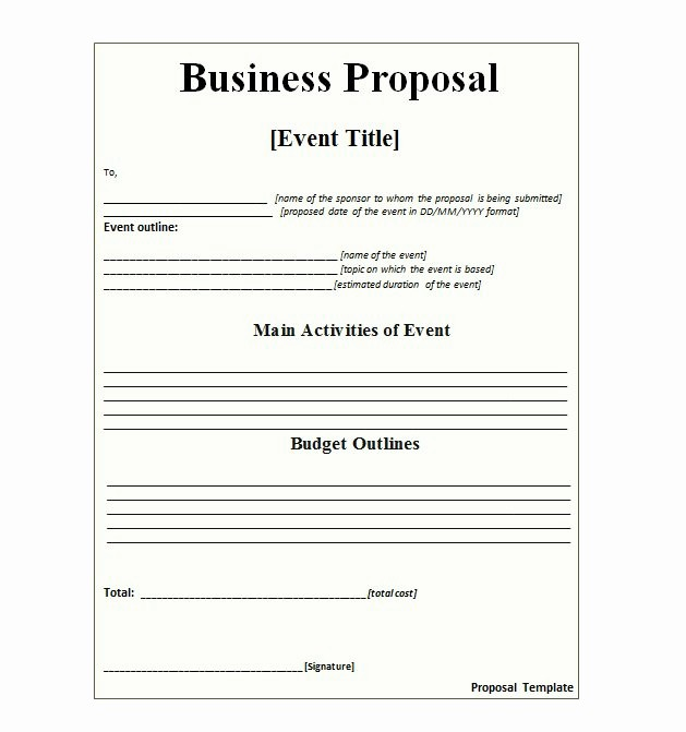 Business Proposal Template Microsoft Word Unique 36 Free Business Proposal Templates & Proposal Letter